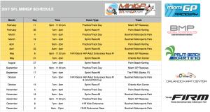 2017 Updated SFL MiniGP Schedule