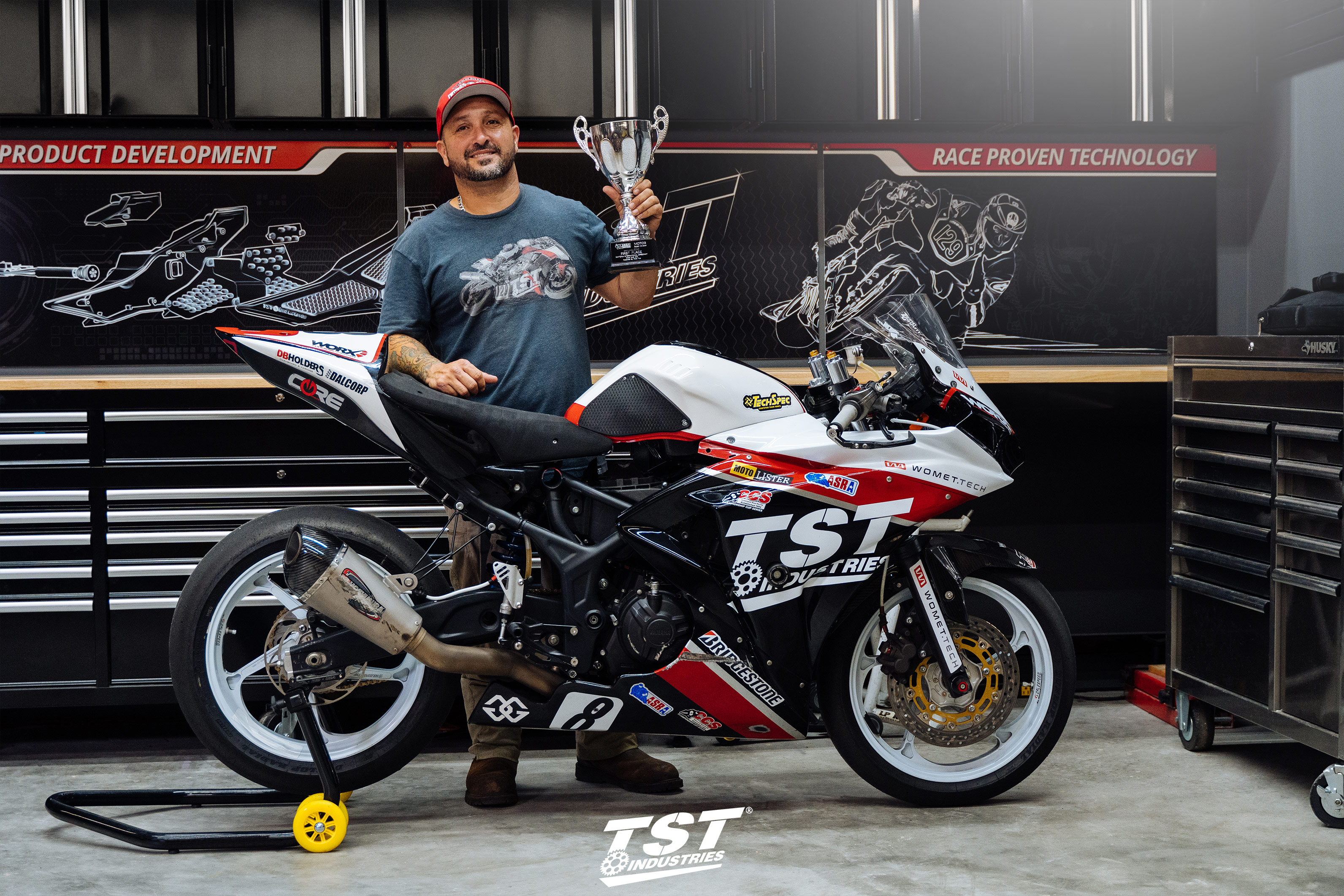 Alex Ferreira with the TST R3 Suberbike