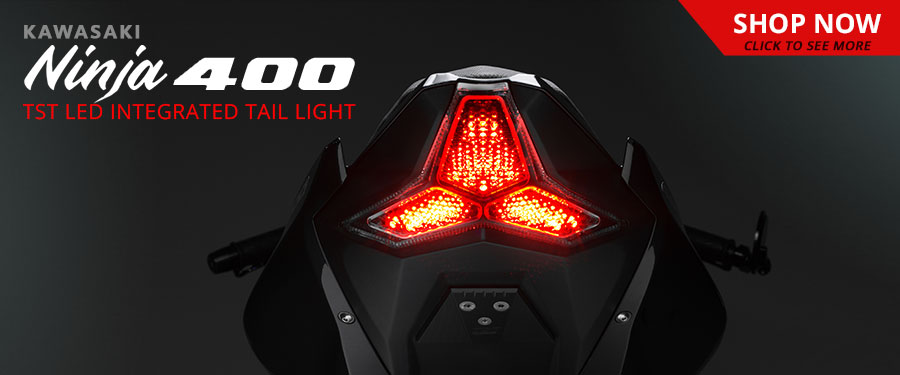 The highly anticipated TST Industries LED Integrated and Programmable Tail Light for the Kawasaki Ninja 400 is available NOW!