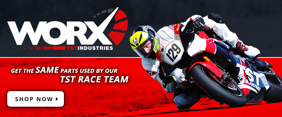Introducing our TST Industries WORX Program. The place to find all the race specific parts used by our TST race team.