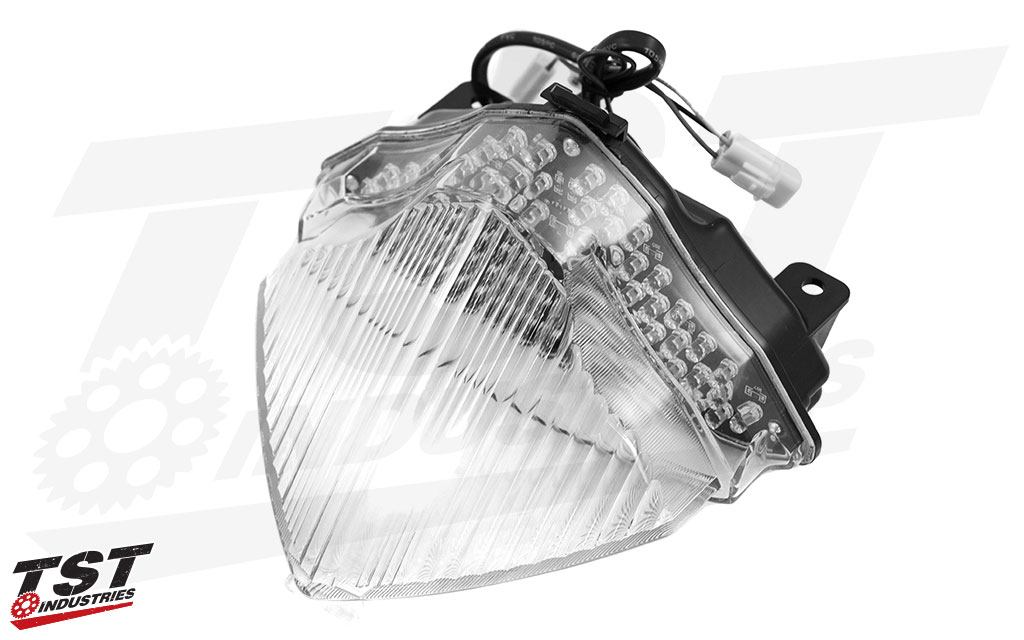 The TST Integrated Tail Light for your Yamaha R1 is available in smoked or clear.
