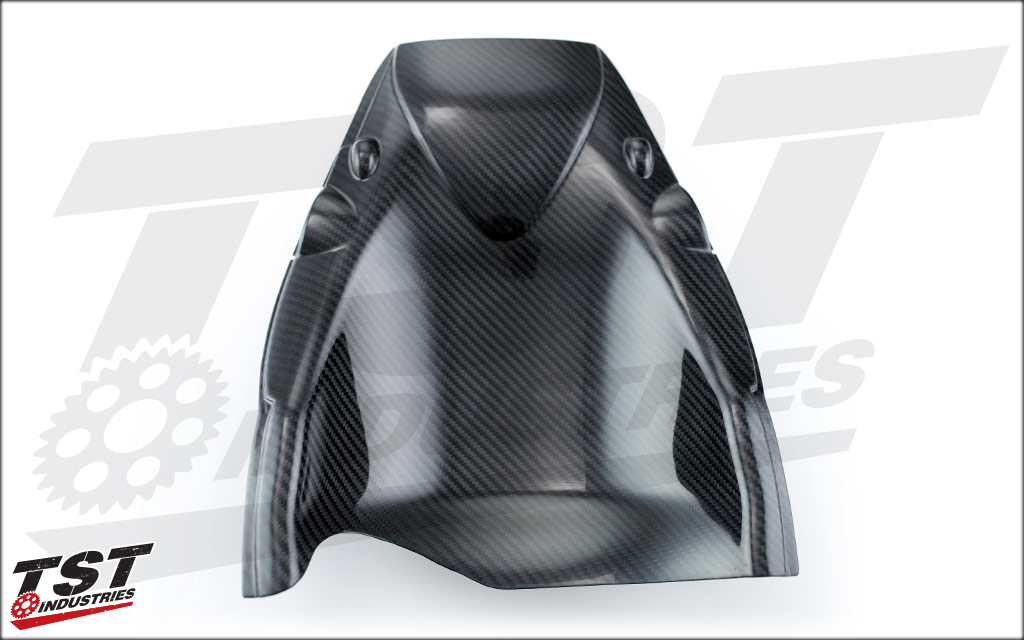 TST Industries Carbon Fiber Undertail for the Honda CBR600RR 2007-2012. (Gloss option show)