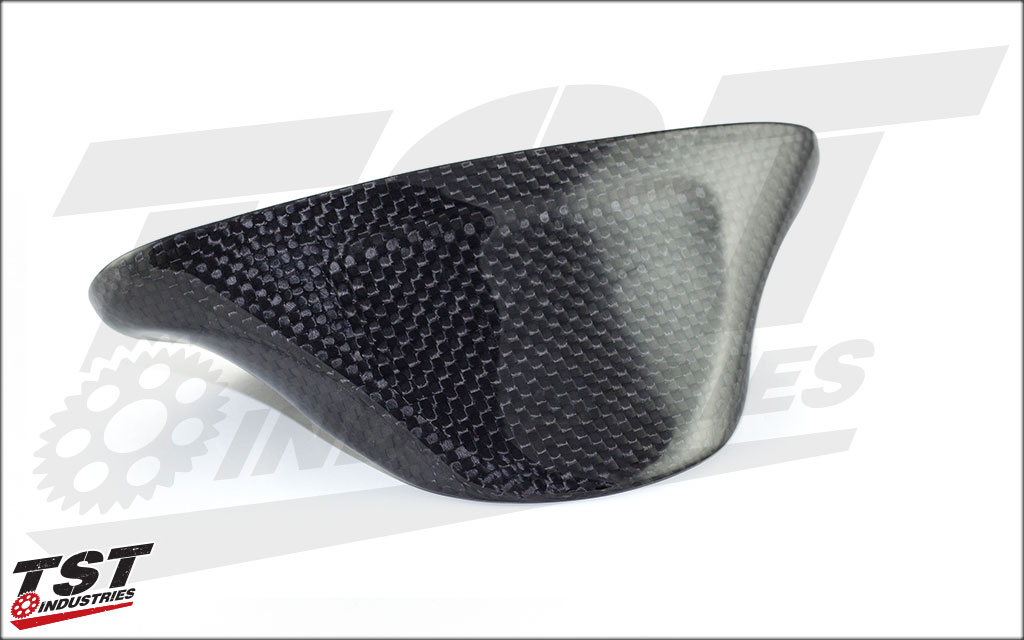 Gloss Carbon Fiber Exhaust Tip for the CBR600RR 2007 - 2012.