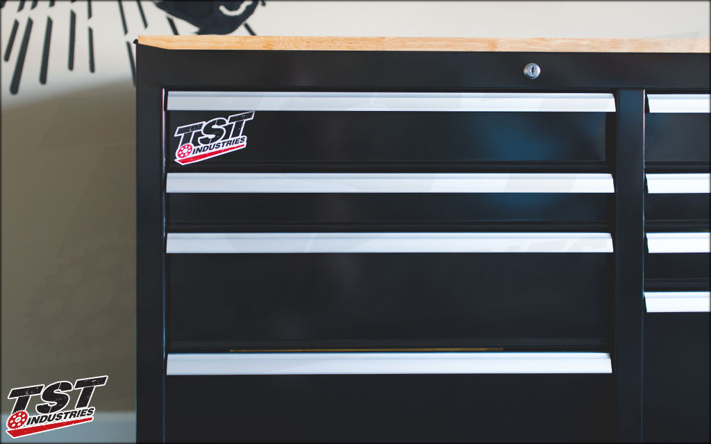 The TST Industries Sticker Pack is perfect for any garage.