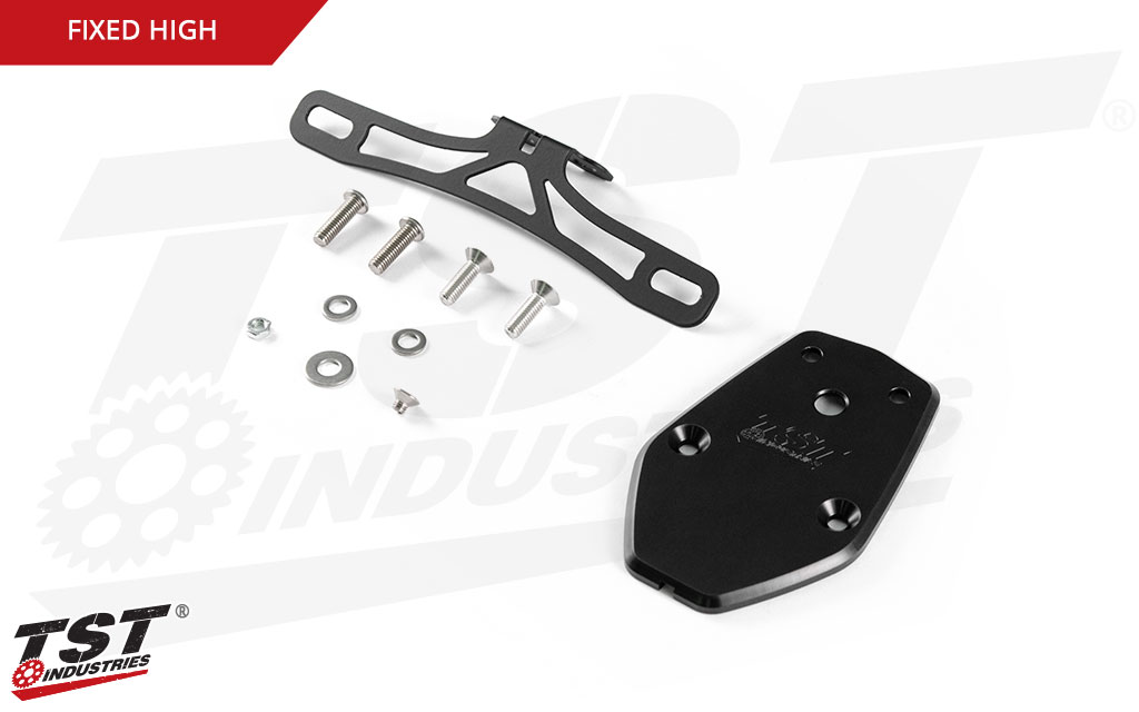 What's included in the Fixed High TST Elite-1 Fender Eliminator for the Kawasaki ZX-10R.