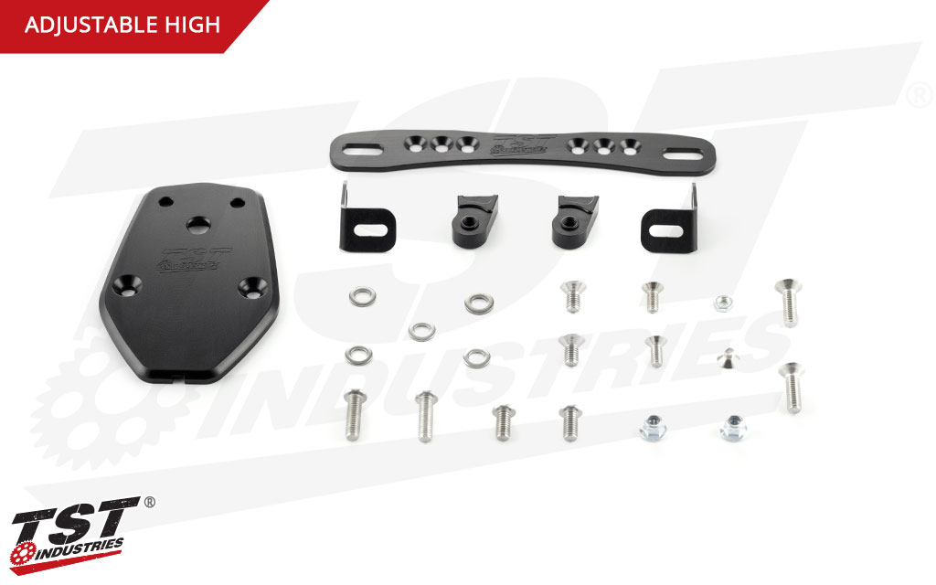 What's included in the Adjustable High TST Elite-1 Fender Eliminator for the Kawasaki ZX-10R.