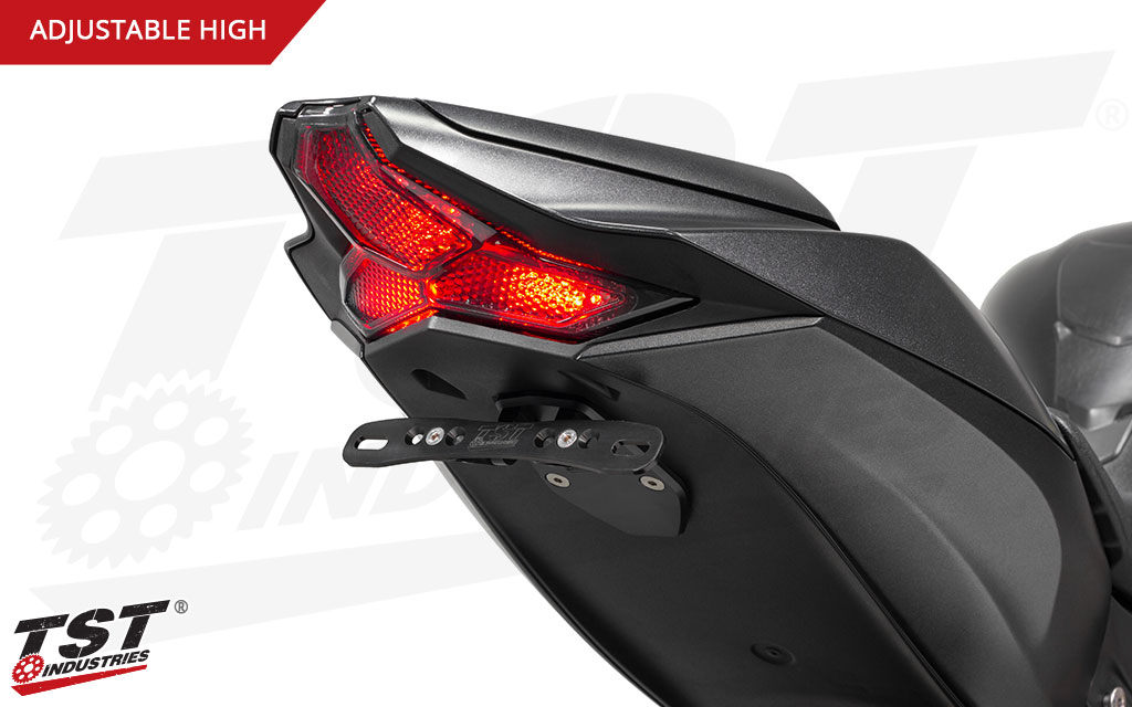 Close the hole left behind by removing your stock fender while gaining an adjustable licence plate bracket