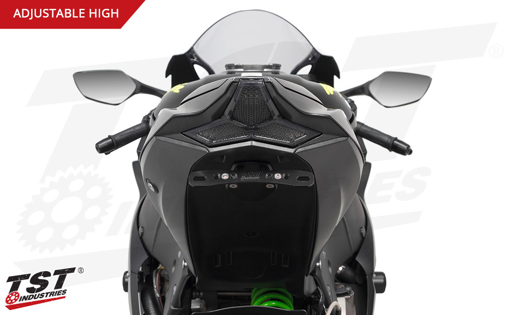 Eliminator the bulky fender that comes stock on your ZX-10R.