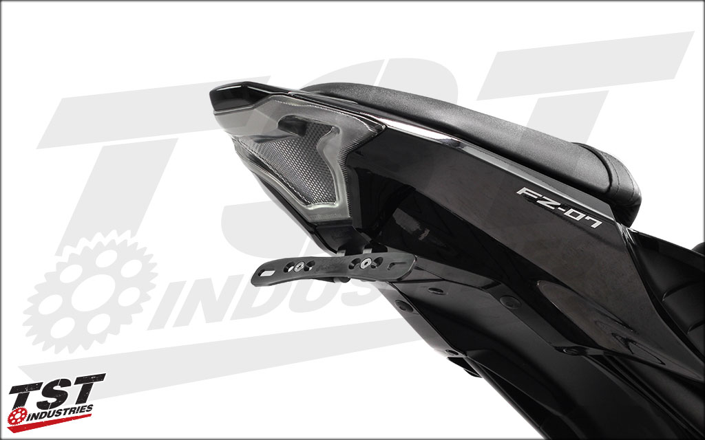 Transform your Yamaha FZ-07 tail section. Shown with Elite-1 Fender Eliminator (sold separately).