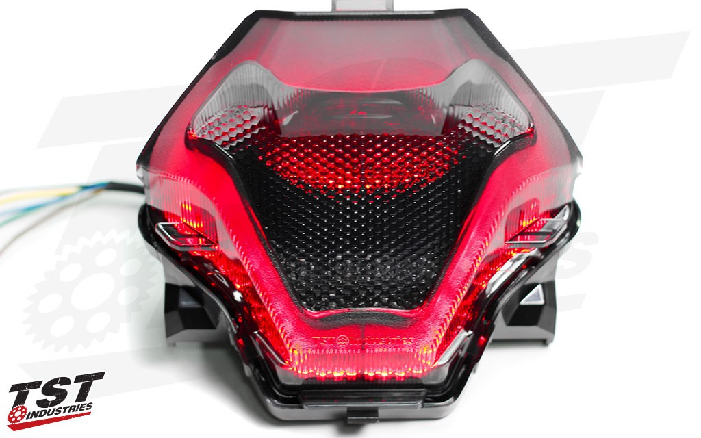 TST Industries Smoked LED Integrated Tail Light for Yamaha R3 & FZ-07 / MT-07 - Blemished.