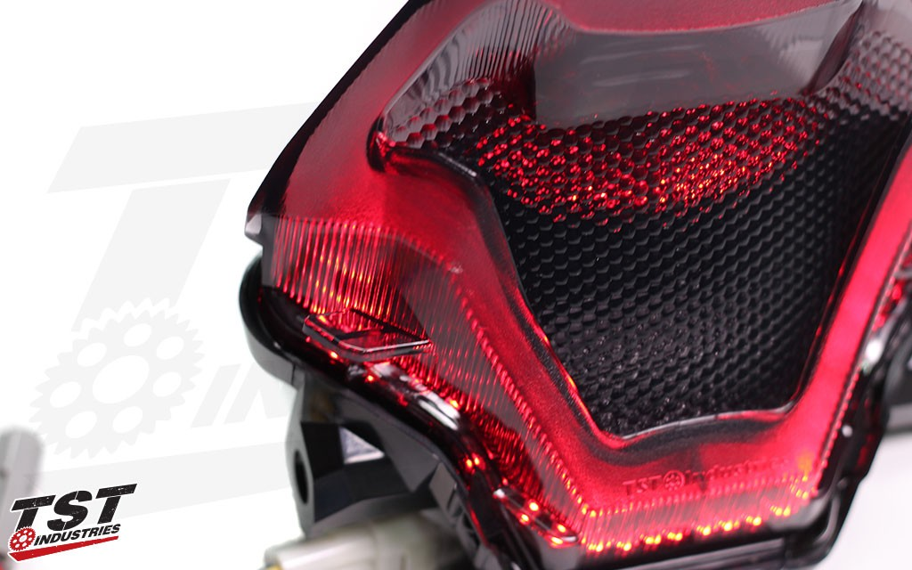 Example of the blemishes that may be present on your LED Integrated Tail Light.