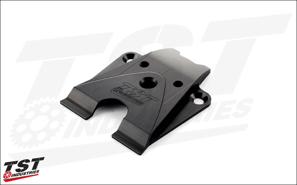 Our exclusive CNC machined aluminum undertail closeout with a gorgeous black anodized finish.