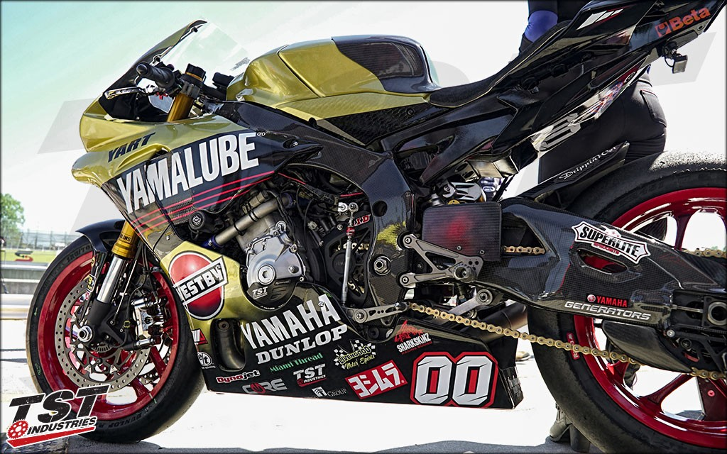 Utilized by MotoAmerica Team Yamalube Westby. (Version 1 Shown)