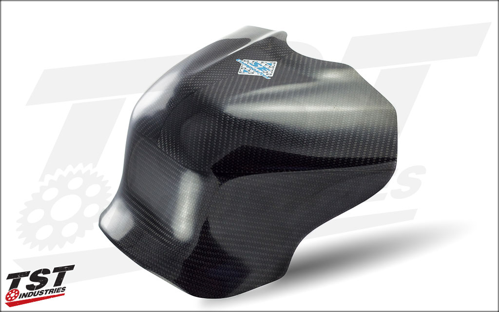 Version 1 SE Moto Carbon Fiber Ergonomic Tank Shroud.