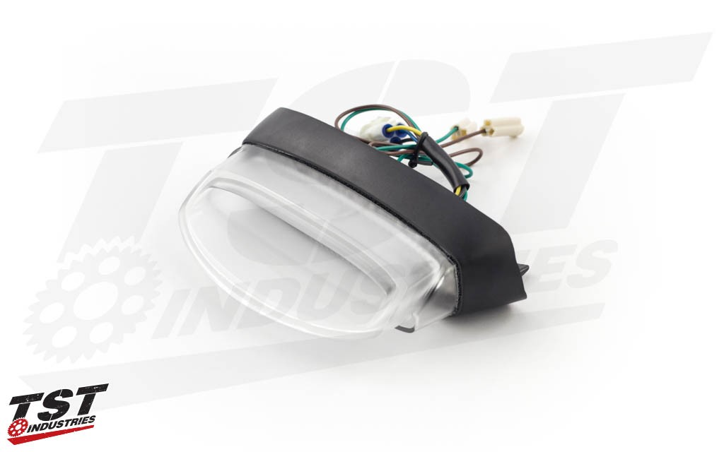 Clear lens TST Industries LED Integrated Tail Light for the Yamaha FZ-09 / MT-09.