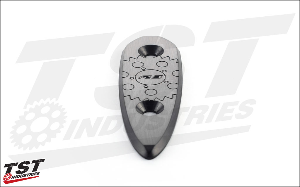 Keep your fairings secure with the TST Industries Yamaha R3 Mirror Block Off Plates.