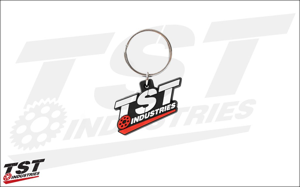 TST Industries Spectraflex PVC keychain.