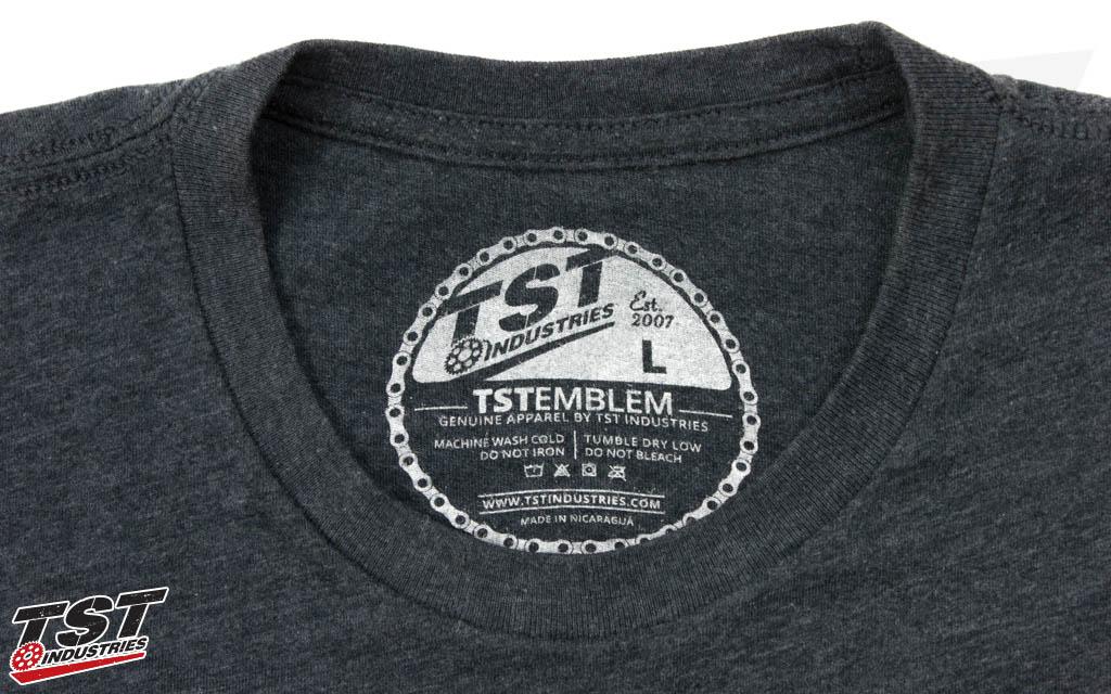 Custom TST Emblem tag print.