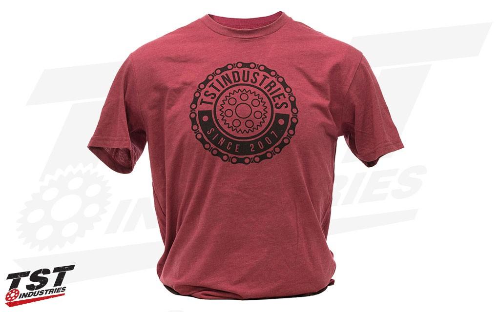 TST Emblem T-Shirt in Cardinal.
