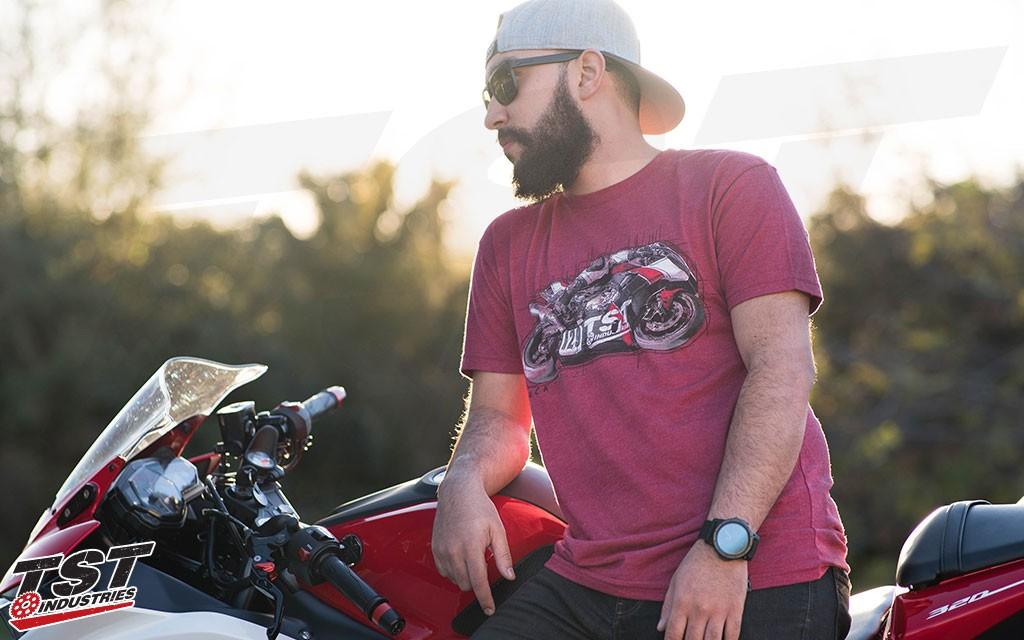 Men's Cardinal TST TrackTime 2.0 T-Shirt.