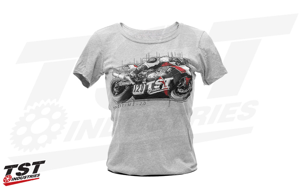 Women's Heather Grey TrackTime 2.0 T-Shirt.