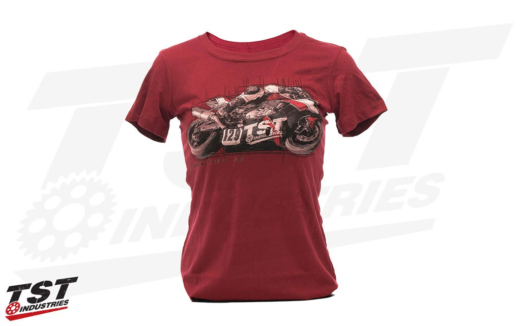 Women's Scarlet TrackTime 2.0 Shirt from TST Industries.