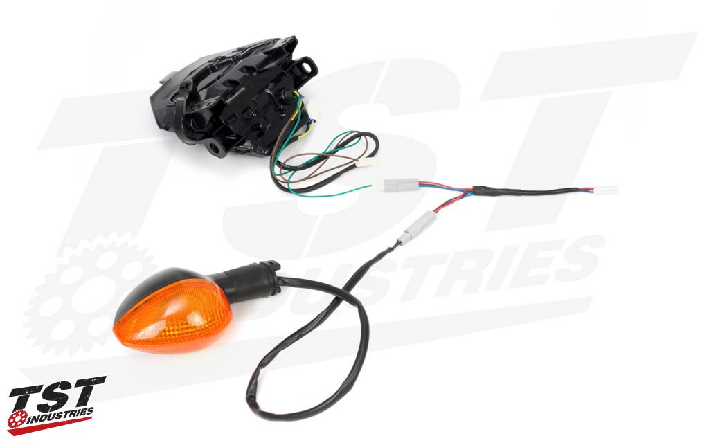 Direct plug and play with TST LED Integrated Tail Light and OEM pod signals.
