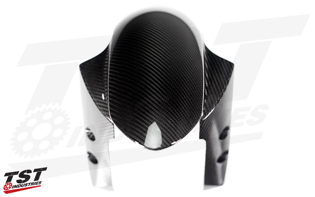 Ditch your plain OEM fender and upgrade to carbon fiber.