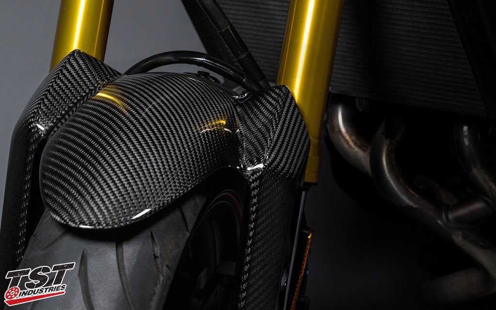 Full twill carbon fiber construction.