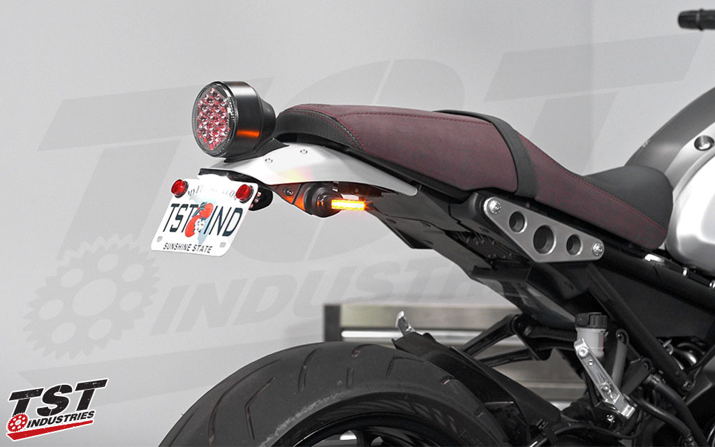 Transform your Yamaha XSR900 with a high quality, budget friendly, adjustable fender eliminator from TST Industries.  (Signals and license plate light sold separately)