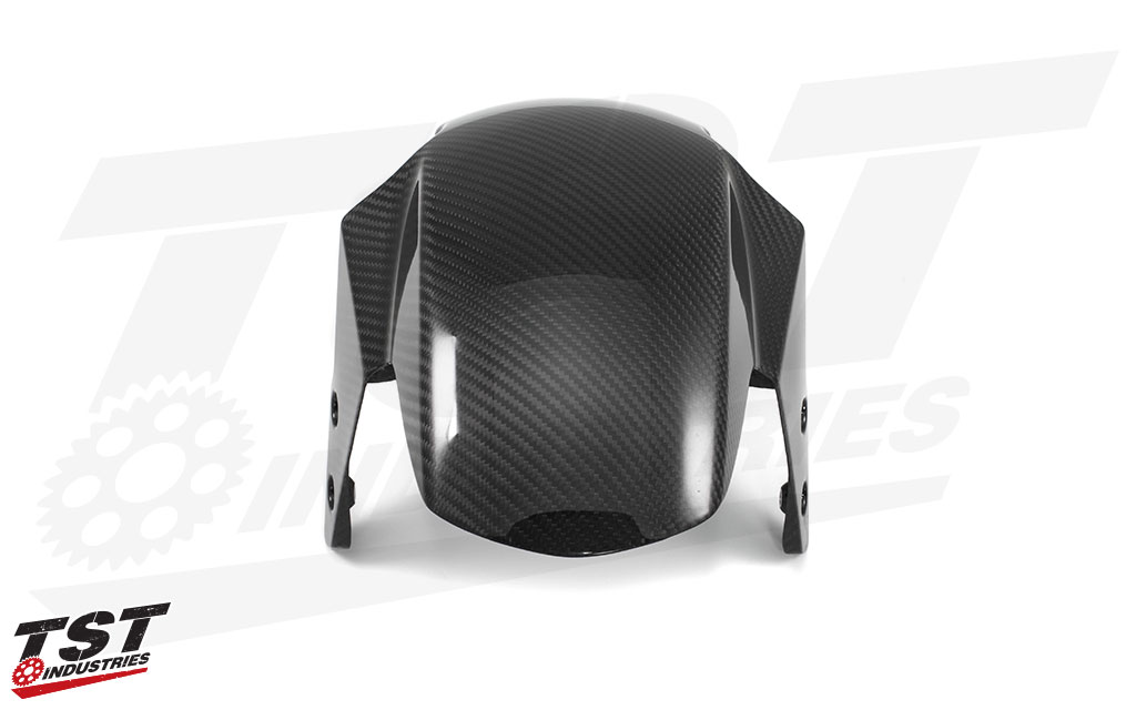 Twill Carbon Fiber Front Fender for the Honda Grom.