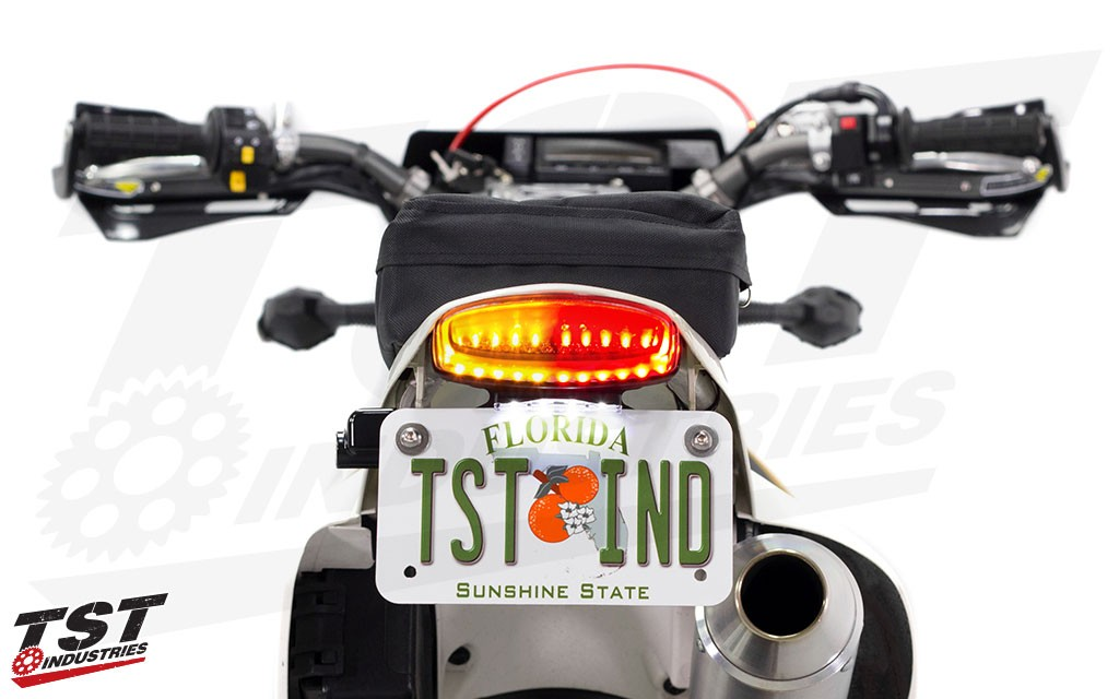 TST Fender Eliminator LED Integrated Tail Light System Version 2 for the 2000+ Suzuki DRZ400S / DRZ400SM