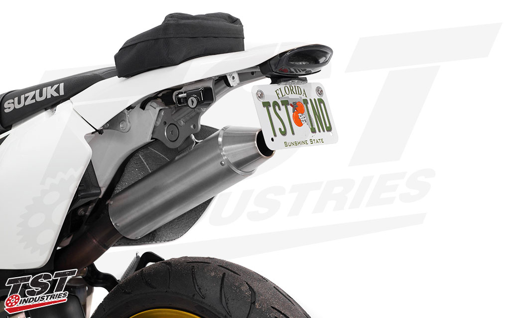 TST Industries V2 Fender Eliminator LED Integrated Tail Light system for the Suzuki DRZ.