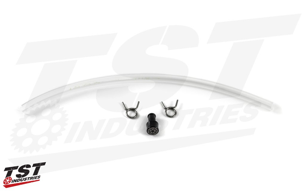 What's included in the TST Industries OEM Rear Brake Reservoir Delete Kit.