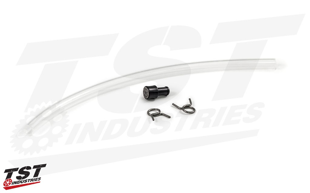 Enables you to get rid of the OEM rear brake reservoir and mounting hardware in favor for a sleek and safe option.