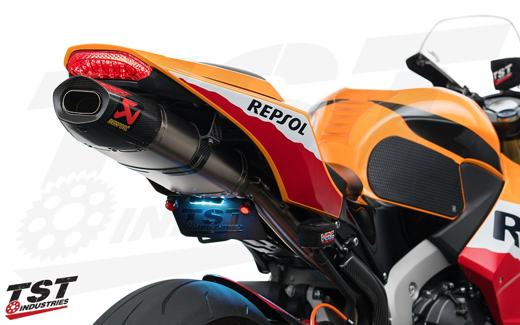 Built in LED turn signals enable you to clean up the rear section of your 2013+ Honda CBR600RR.