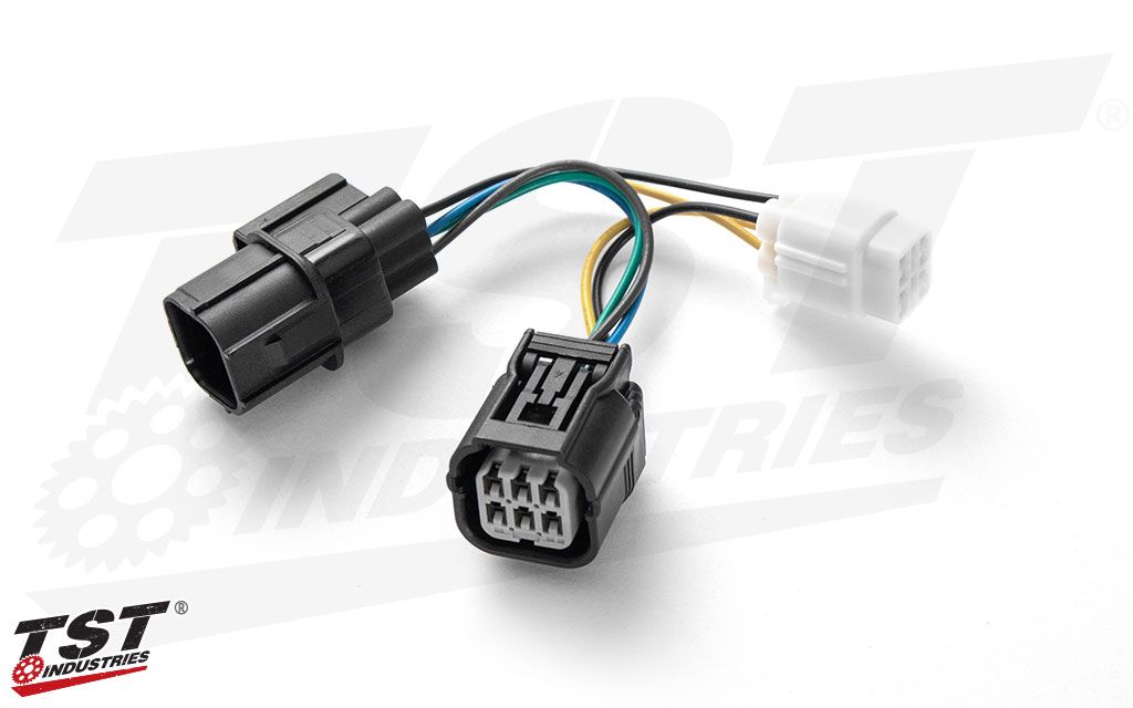 Included plug and play wire harness converter.