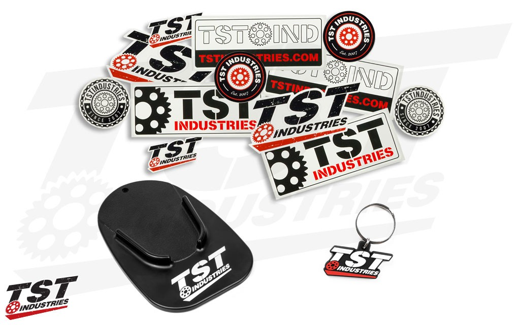 What's included in the TST Industries Swag Bag!