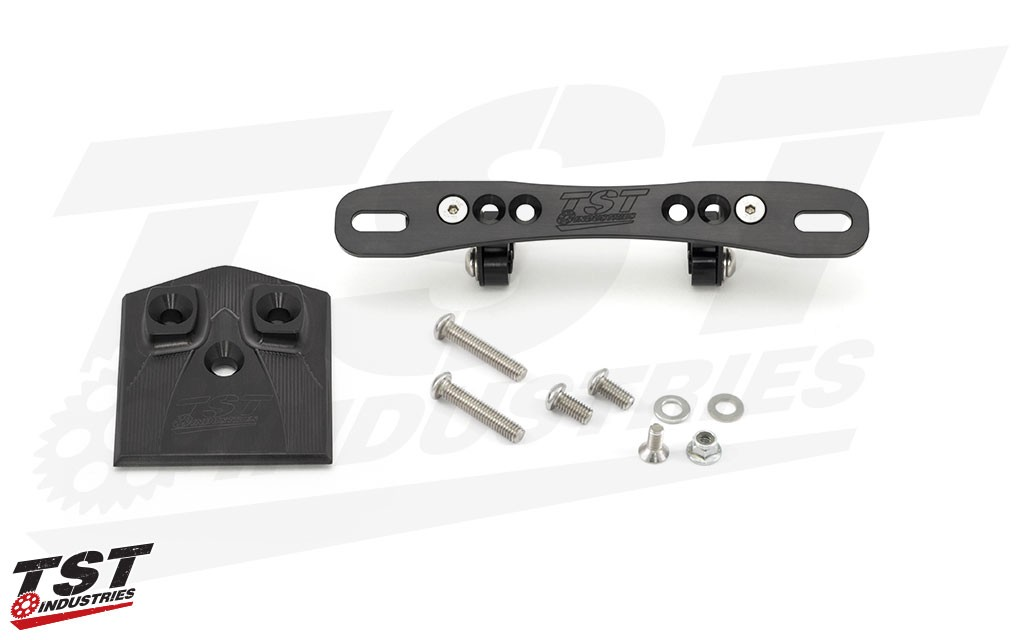 Upgrade to the anodized CNC machined aluminum adjustable bracket for further customization and mounting possibilities.