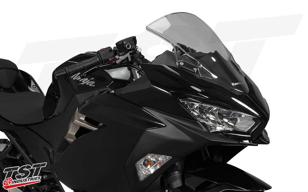 Get your Kawasaki Ninja 400 track-ready with the TST Mirror Block Off Plates.