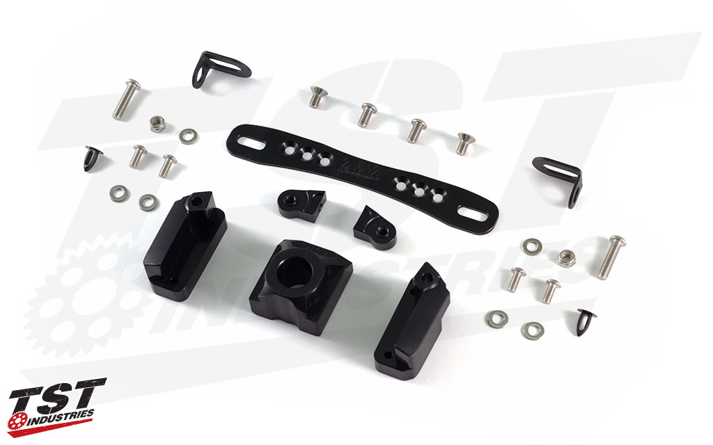 Included the Adjustable plate bracket, Axle Block, Undertail Closeout, and all the necessary installation hardware.