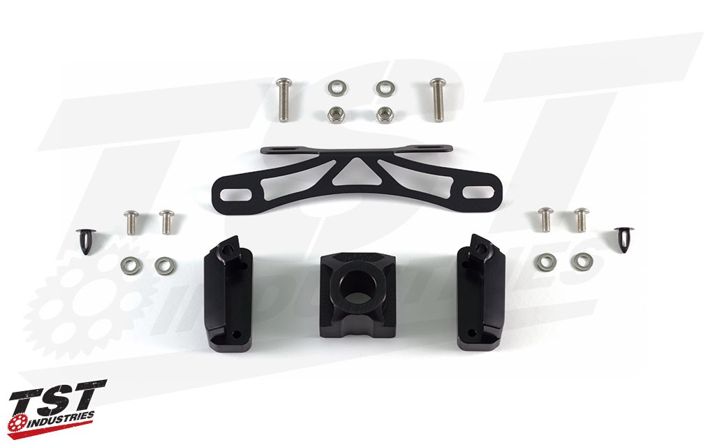 """What's included in the """"Fixed High"""" Elite-1 Fender Eliminator for the 2017+ Yamaha FZ-09."""