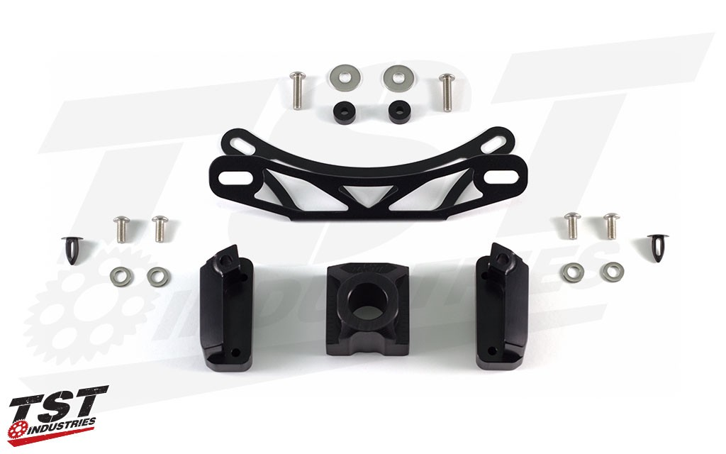 """What's included in the """"Fixed Low"""" Elite-1 Fender Eliminator for the 2017+ Yamaha FZ-09."""