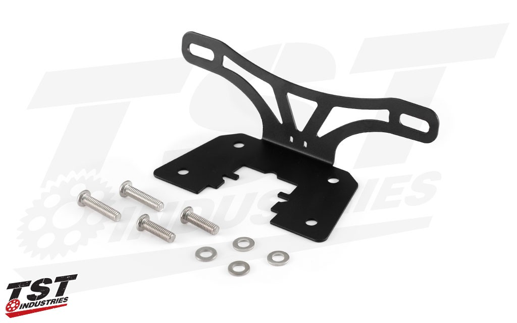 Our bracket is manufactured from laser cut steel featuring a durable black powder coat and includes corrosion resistant hardware.