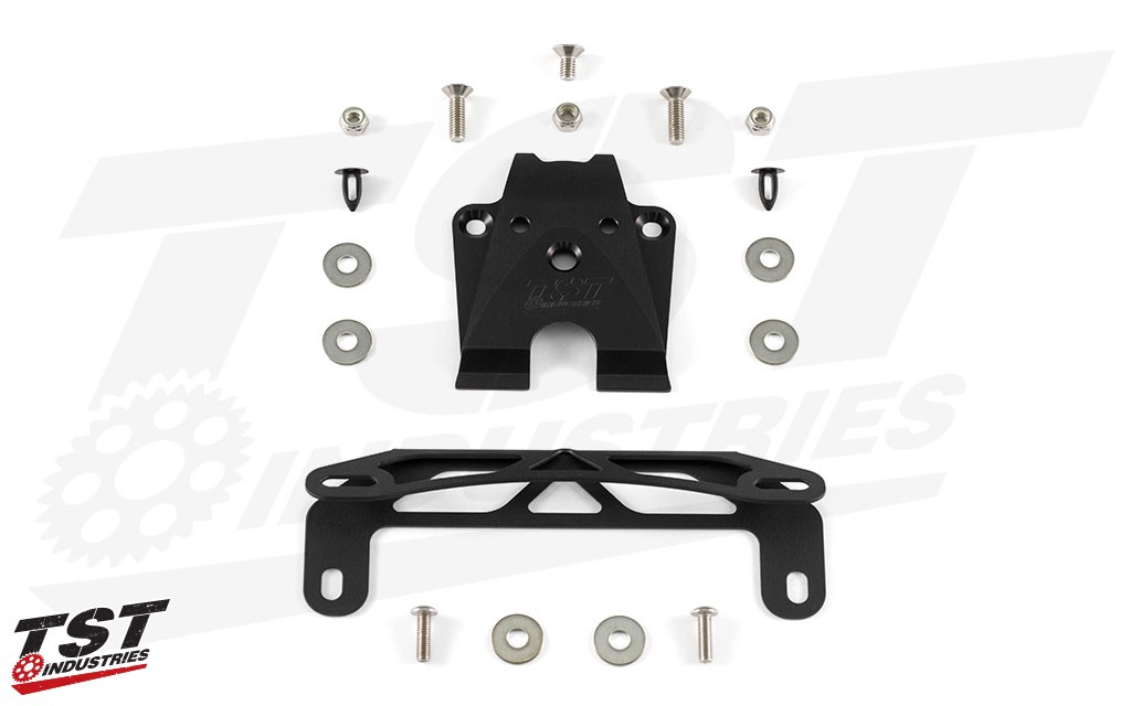 What's Included: TST Elite-1 Fender Eliminator & Undertail Closeout - Fixed Low Mount Kit Shown.