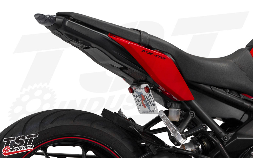 Upgrade your Yamaha FZ-09 with a sleek and tucked Low-Mount Fender Eliminator. Undertail Closeout sold separately.