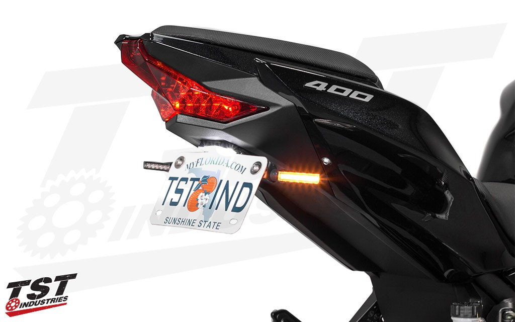 Improve the looks of your motorcycle with the slim BL6 LED Pod Turn Signals.