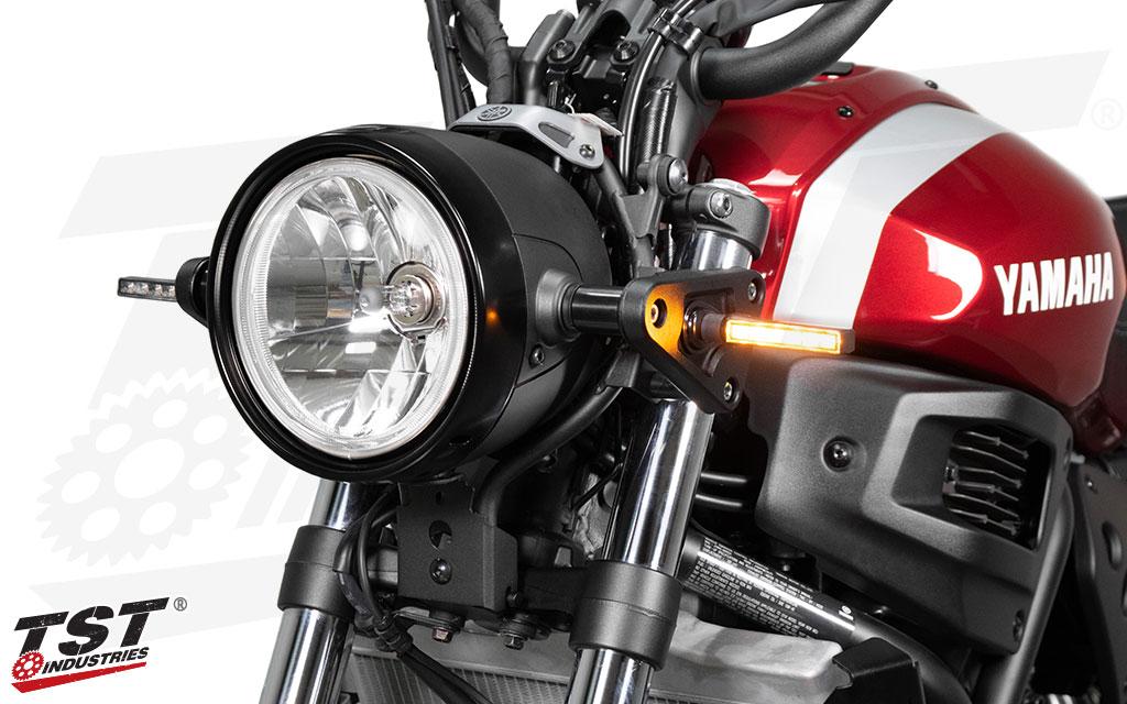 BL6 LED Pod Turn Signals shown on the Yamaha XSR700.
