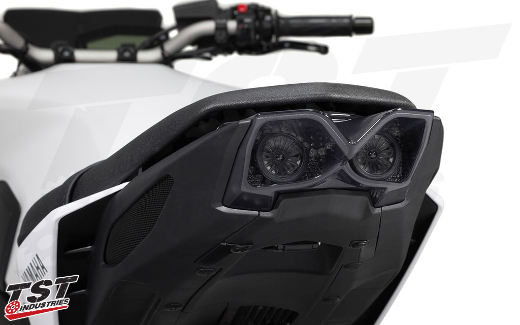 Clean up the entire tail section of your 2017+ FZ09 / MT09 with the TST LED Integrated Tail Light.