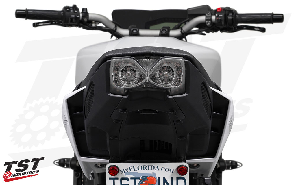 Clear TST LED Integrated Tail Light for Yamaha FZ-09 / MT-09 2017+.